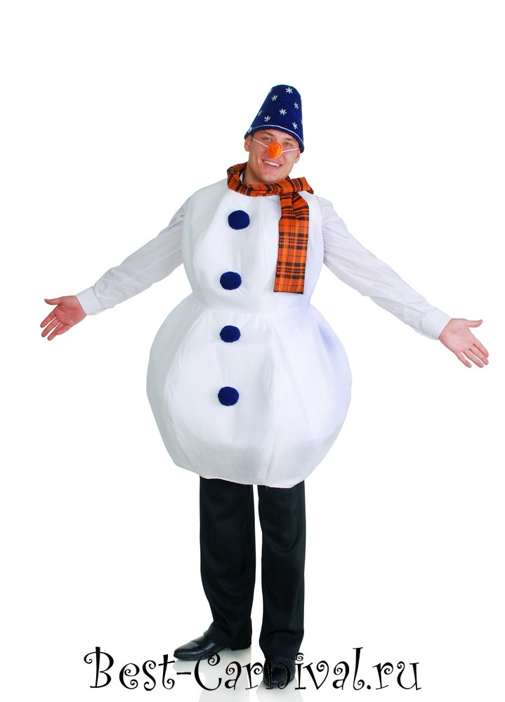 Взрослый костюм снеговика своими руками 198