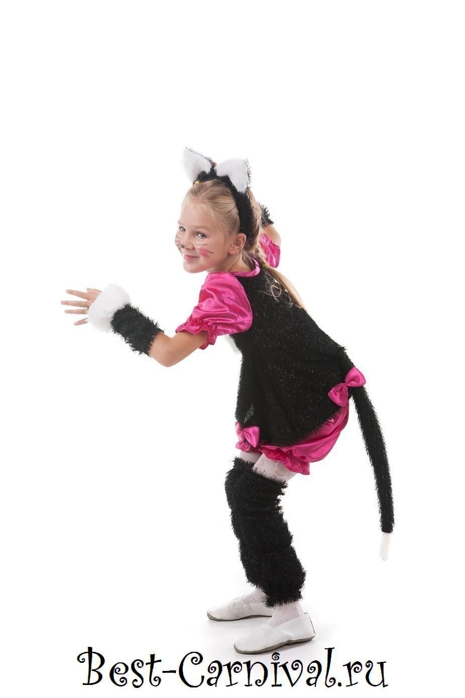 Карнавальные костюмы для девочек своими руками кошка 50